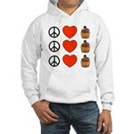 Peace Love & Cupcakes Hooded Sweatshirt