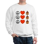 Peace Love & Cupcakes Sweatshirt