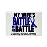 My Battle Too 1 BLUE (Wife) Rectangle Magnet