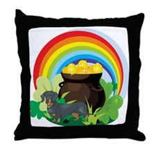 Dachshund St Patricks Day Throw Pillow