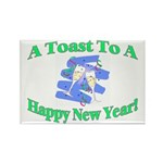 New Year's Toast Rectangle Magnet