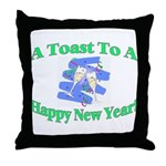 New Year's Toast Throw Pillow
