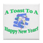 New Year's Toast Tile Coaster