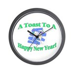New Year's Toast Wall Clock