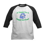 New Year's Toast Kids Baseball Jersey