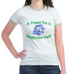 New Year's Toast Jr. Ringer T-Shirt