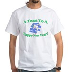 New Year's Toast White T-Shirt