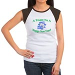 New Year's Toast Women's Cap Sleeve T-Shirt
