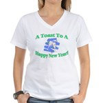 New Year's Toast Women's V-Neck T-Shirt
