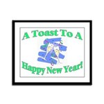 New Year's Toast Framed Panel Print