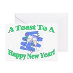 New Year's Toast Greeting Cards (Pk of 10)