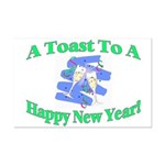New Year's Toast Mini Poster Print