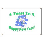 New Year's Toast Banner