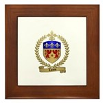 LANOUE Family Crest Framed Tile