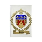 LANOUE Family Crest Rectangle Magnet (100 pack)