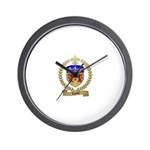 LANOUE Family Crest Wall Clock