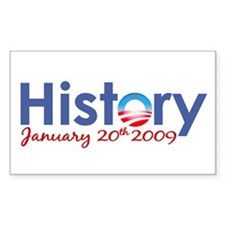 Obama History Inauguration 2009 Rectangle Decal