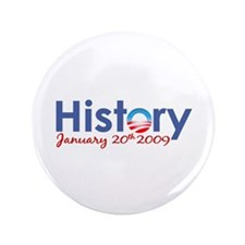 "Obama History Inauguration 2009 3.5"" Button (100 p"