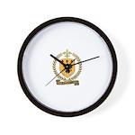 LAMONTAGNE Family Crest Wall Clock