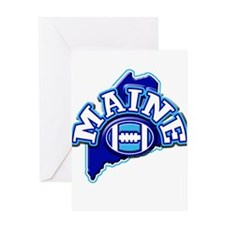 Maine Football Greeting Card