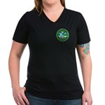 Alameda Rugby Women's V-Neck Dark T-Shirt