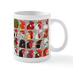 Twenty Rooster Heads Mug
