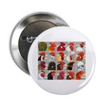 "Twenty Rooster Heads 2.25"" Button (10 pack)"