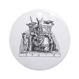 Odin Ornament (Round)