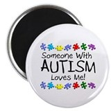 "Someone With Autism Loves Me 2.25"" Magnet (100 pac"
