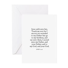 JOHN  20:17 Greeting Cards (Pk of 10)