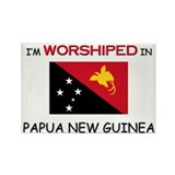 I'm Worshiped In PAPUA NEW GUINEA Rectangle Magnet
