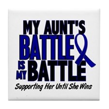 My Battle Too 1 BLUE (Aunt) Tile Coaster
