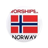 "I'm Worshiped In NORWAY 3.5"" Button"