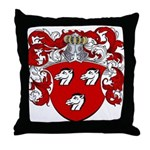 Haeck Family Crest Throw Pillow