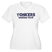 Yonkers drinking team Women's Plus Size V-Neck T-S