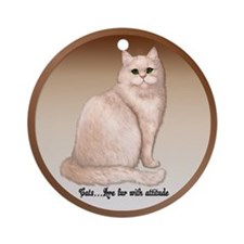 Cat Attitude - Persian Ornament (Round)