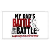 My Battle Too 1 PEARL WHITE (Dad) Decal