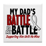 My Battle Too 1 PEARL WHITE (Dad) Tile Coaster