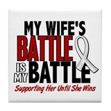 My Battle Too 1 PEARL WHITE (Wife) Tile Coaster