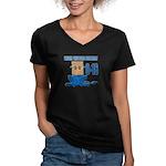 Wear The Bag Detroit Women's V-Neck Dark T-Shirt