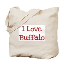 I love Buffalo Tote Bag