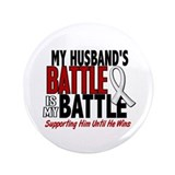 "My Battle Too 1 PEARL WHITE (Husband) 3.5"" Button"