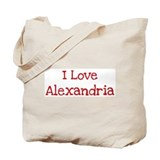 I love Alexandria Tote Bag