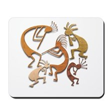 Five Wood Kokopelli Mousepad
