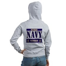 Retired Navy Veteran Zip Hoodie