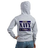 Retired Navy Veteran Zipped Hoody