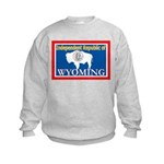 Wyoming-4 Kids Sweatshirt