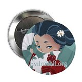Japanese Flower 2.25&quot; Button (10 pack)
