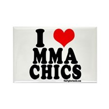 I LOVE MMA CHICS Rectangle Magnet (100 pack)