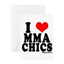 I LOVE MMA CHICS Greeting Card